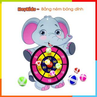 Bảng ném bóng dính, bóng gai, đồ chơi phi tiêu cho bé, hình con vật, an toàn cho bé từ 4 đến 6 tuổi thumbnail