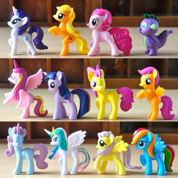 [Mã LIFE1504 giảm 10% đơn 100K] Ngựa Pony thiên thần set 12 con loại to | Ngựa thiên thần Poly loại to