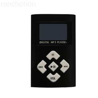 USB Digital MP3 Music Player Mini Portable Support Micro SD/TF Card Large Screen Display MP3 ranchotion
