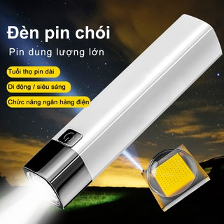 Flashlight USB rechargeable outdoor small flashlight walking type household lighting ABS