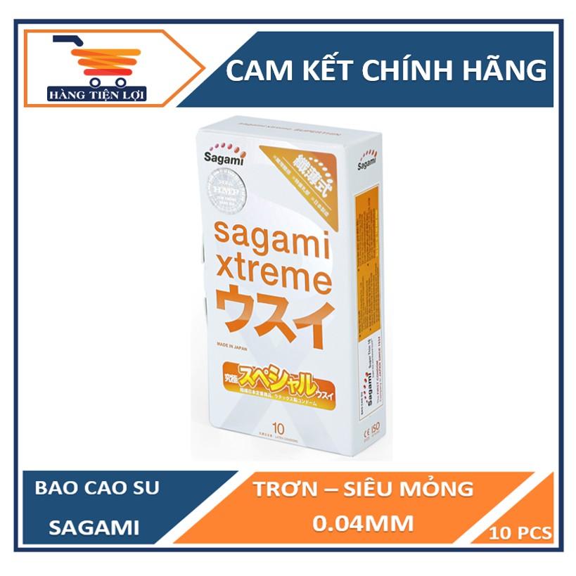 [Mã INCU1114 giảm 25% đơn 99K] Bao cao su Sagami Xtreme Super Thin siêu mỏng cao cấp 10 bao