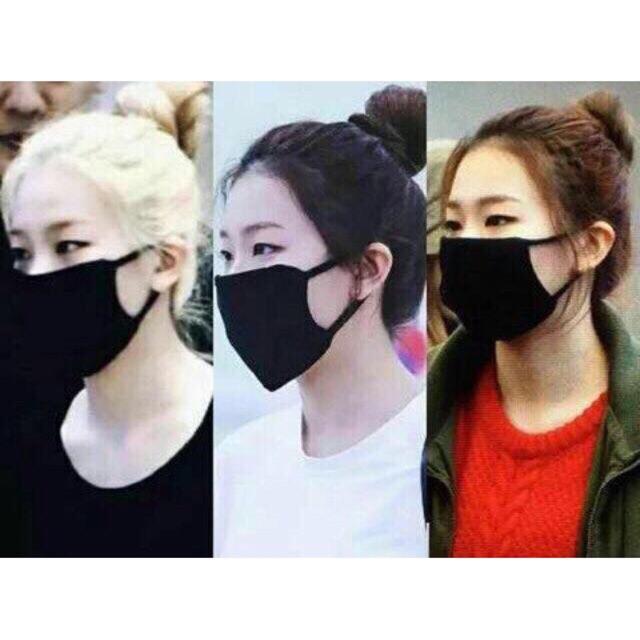 Khẩu trang vải đen 6 lớp Hàn Quốc