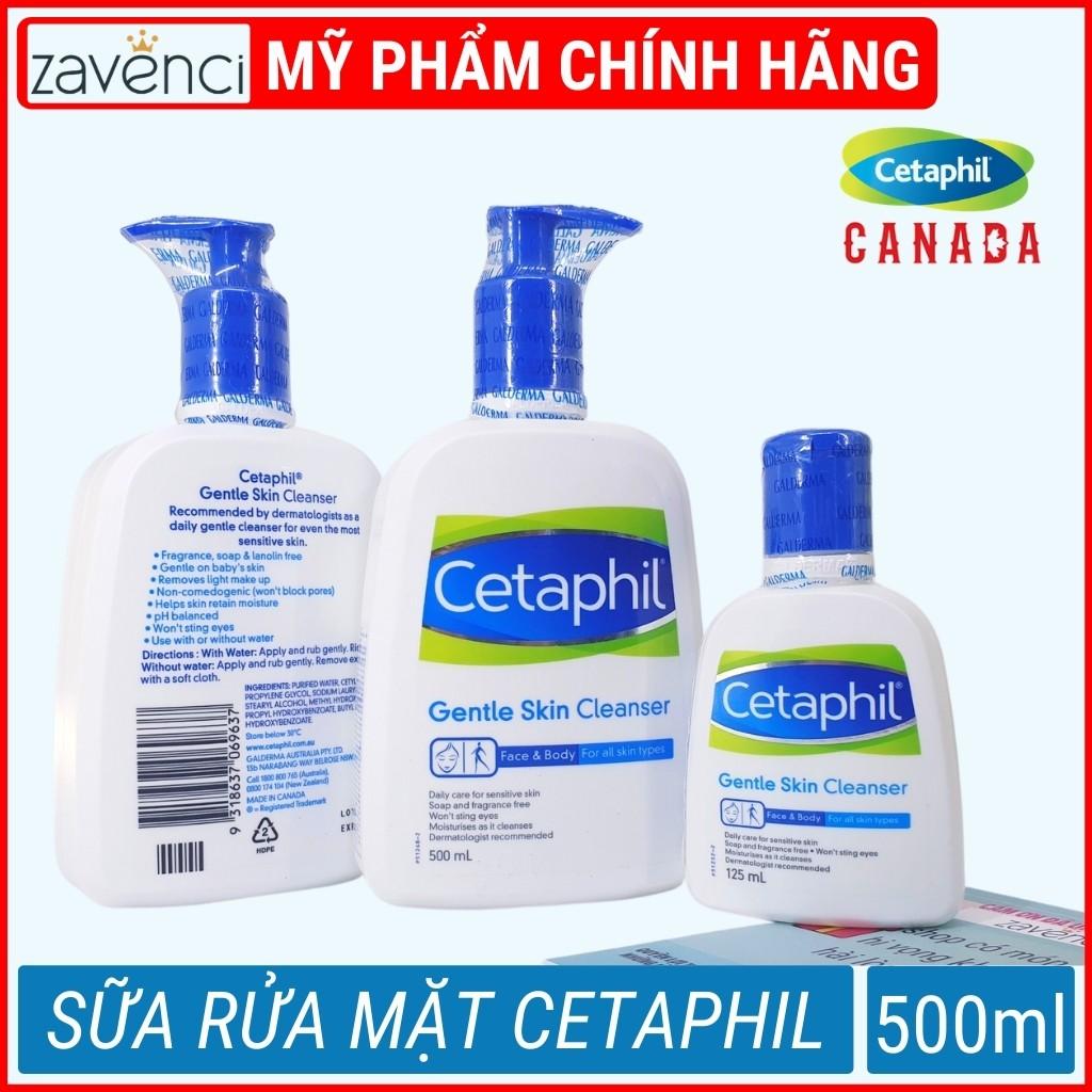 Sữa rửa mặt SR4509299 CETAPHIL Gentle Skin Cleanser Được Bác Sĩ Da Liễu Khuyên Dùng (Date mới 500ml)