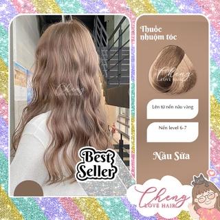 [Mã SKAMSALE8 giảm 10% đơn 200K] Thuốc nhuộm tóc màu NÂU SỮA không cần thuốc tẩy tóc Chenglovehairs, Chenglovehair