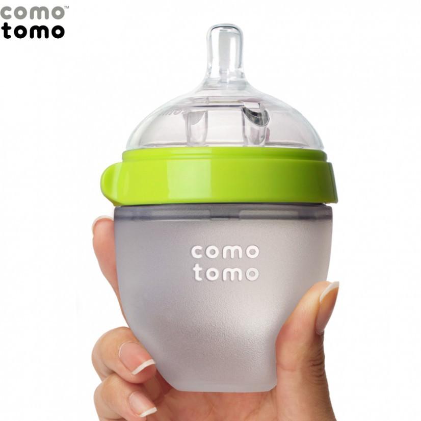 Bình sữa silicone Comotomo 150ml - Hồng