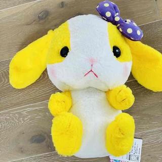 Gấu bông Thỏ vàng Pote usa đeo nơ 42cm – Chính hãng Nhật Bản
