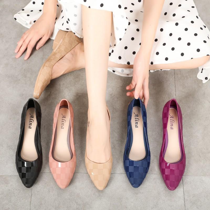 Giày nhựa đi mưa nữ Alina 3p dáng công sở nhiều màu V251