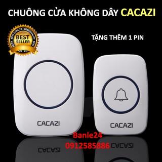 Chuông cửa không dây Cacazi cực tốt (chuông bấm), tặng thêm pin, bảo hành 1 đổi 1 trong 1 tháng