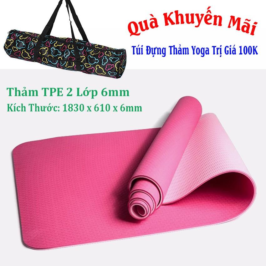 [Free Ship] Thảm Tập Yoga TPE 2 Lớp 6mm + Túi Đựng Thảm (Hồng) - 3185095 , 1060722663 , 322_1060722663 , 375000 , Free-Ship-Tham-Tap-Yoga-TPE-2-Lop-6mm-Tui-Dung-Tham-Hong-322_1060722663 , shopee.vn , [Free Ship] Thảm Tập Yoga TPE 2 Lớp 6mm + Túi Đựng Thảm (Hồng)