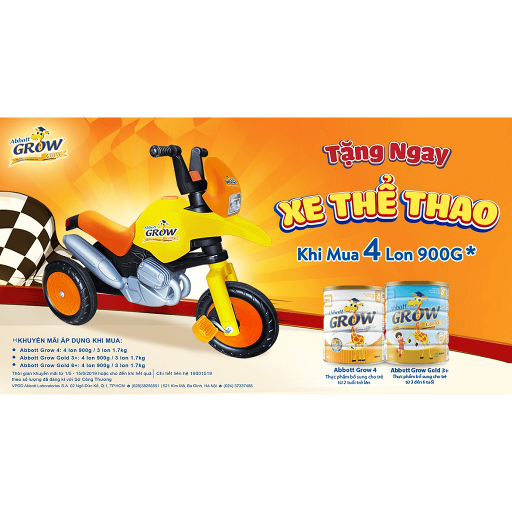 Đai đi xe máy an toàn cho bé, quà tặng sữa grow