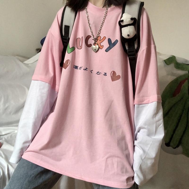 Áo thun form rộng kiểu Hàn quốc thời trang xuân thu