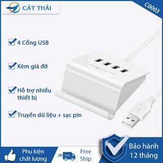 Hub bộ chia USB 2.0 tốc độ cao C0003 có thể dùng để sạc pin thiết bị được kèm giá đỡ 4 cổng USB cực tiện lợi