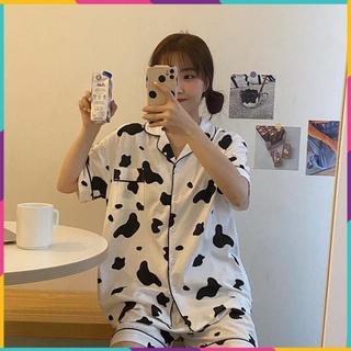 Pijama nữ bộ đồ ngủ bò sữa mặc nhà cao cấp cute dễ thương giá rẻ thumbnail