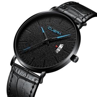 Đồng hồ nam CUENA JAPAN CU866 Siêu mỏng Lịch Ngày Sang trọng Dây Da Cao Cấp thumbnail