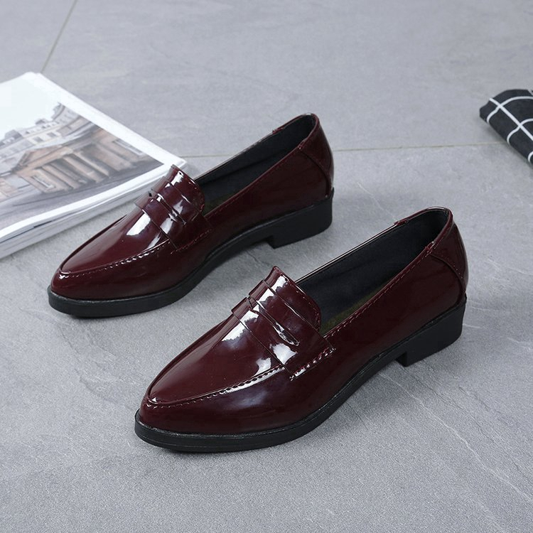 Giày búp bê bằng da phong cách Hàn Quốc thanh lịch dành cho nữ