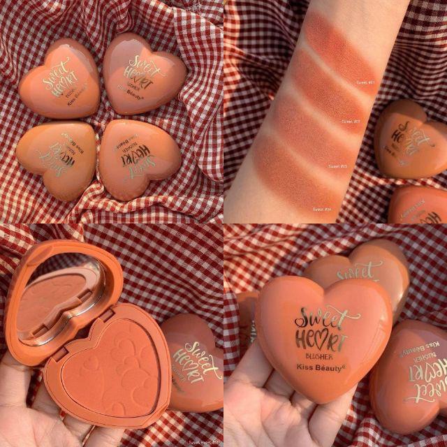 Phấn Má Hồng Tông Màu Tây Tây Thời Thượng Kiss Bèauty Sweet Heart Blusher -W174-A02T2