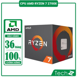 Bộ vi xử lý AMD RYZEN 7 2700X (3.7GHz Up to 4.3GHz, AM4, 8 Cores 16 Threads)