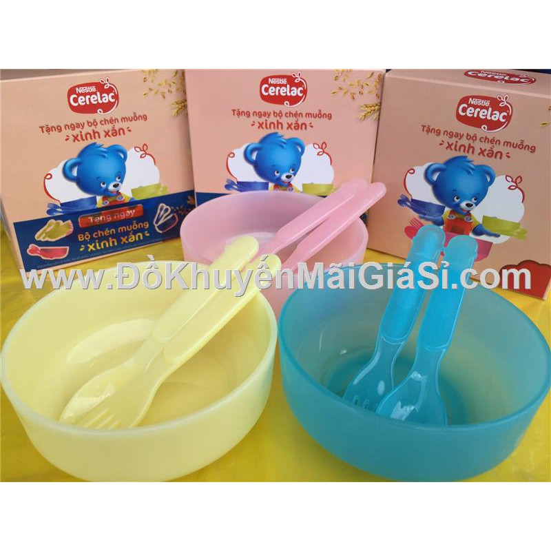 Bộ chén, muỗng, nĩa nhựa Nestle cho bé ăn dặm - 3304345 , 1229046077 , 322_1229046077 , 9000 , Bo-chen-muong-nia-nhua-Nestle-cho-be-an-dam-322_1229046077 , shopee.vn , Bộ chén, muỗng, nĩa nhựa Nestle cho bé ăn dặm