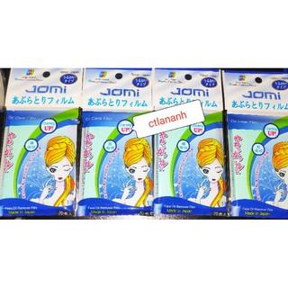 Giấy / Phim / Film thấm dầu Jomi Nhật Bản màu xanh gói 70 miếng