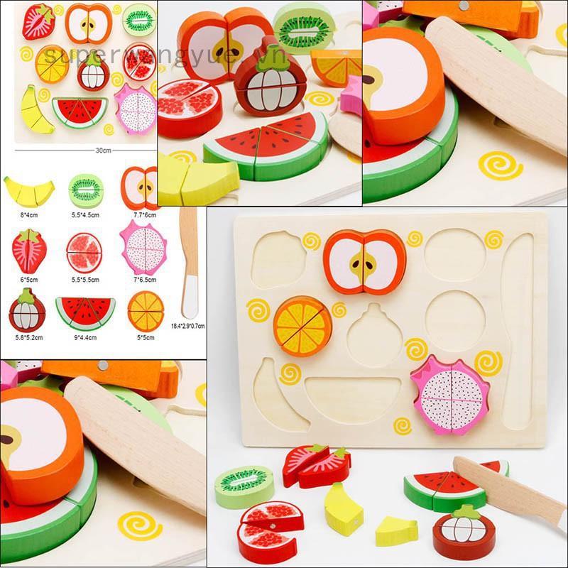 Bộ đồ chơi cắt thực phẩm dễ thương cho bé