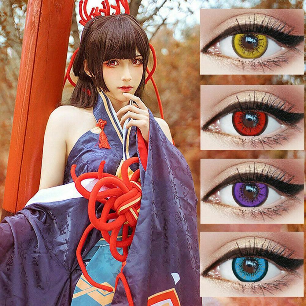 Simrises 1 Pair Big Eyes Cosplay Unisex Fashion Natural Comfort Coloured Contact Lenses