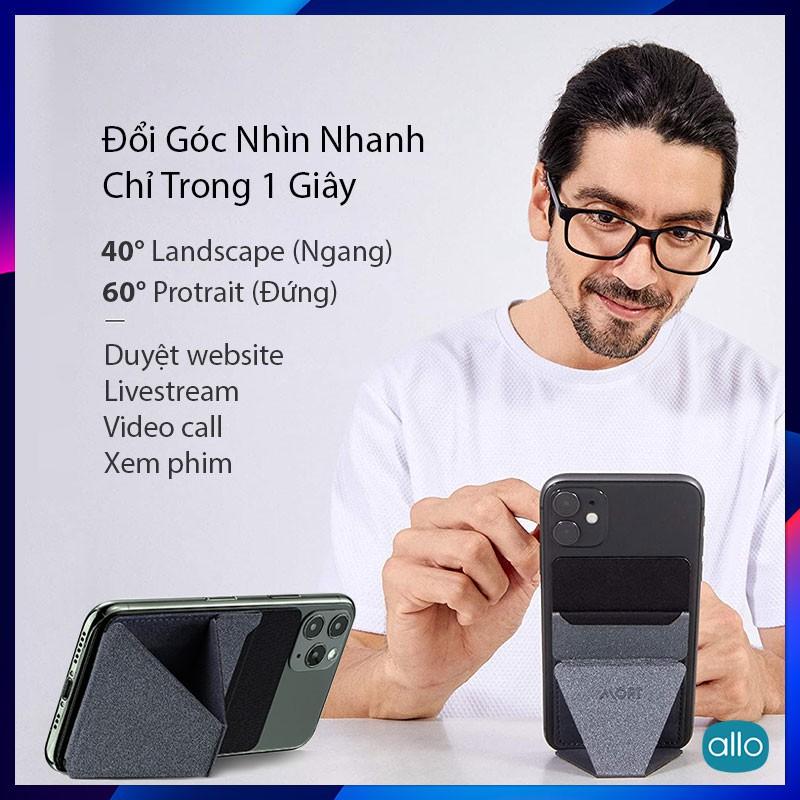 Giá Đỡ Điện Thoại Moft X Phone Stand Navi Blue, Tích Hợp Ví Để Thẻ, Siêu Mỏng Đa Năng, Phiên Bản Dán Keo (Adhesive)