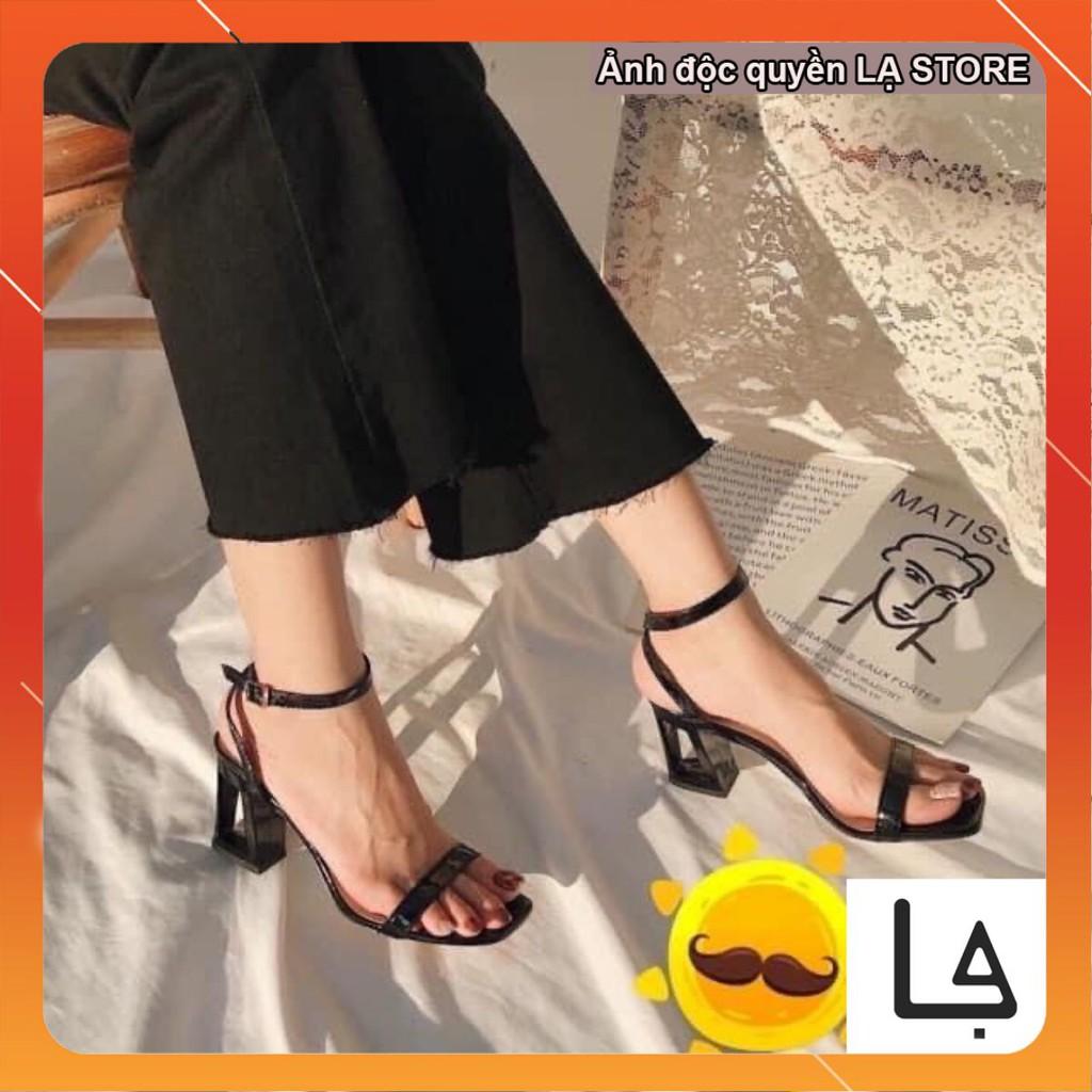 Giày dép cao gót nữ đế rỗng sang trọng ( đế  vuông 7cm)