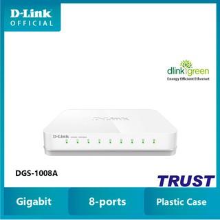 D-Link gigabit 8 cổng Bộ chia tín hiệu Switch RJ45 10 100 1000Mbps - Thiết bị chuyển mạch D-LINK DGS-1008A thumbnail