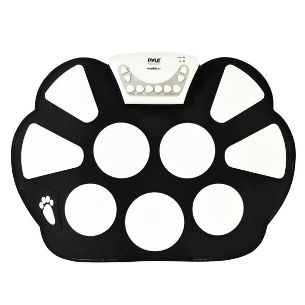 Professional Roll up Drum Pad Kit Silicon Foldable with Drum Stick Portable