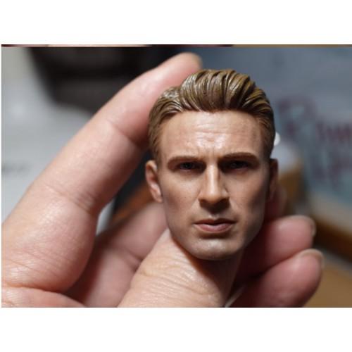 1/6 Scale Captain America Head Carving Chris Evans Male Head Sculpt F12'' Figure