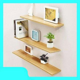 Combo 3 kệ âm tường bằng gỗ thông nguyên khối