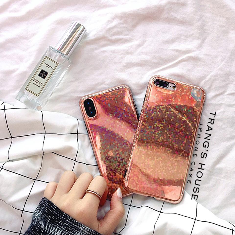 Ốp Iphone Retro Glitter Luxury Silicon Dẻo Chống Sốc
