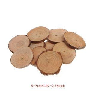 Lát gỗ tròn trang trí thủ công làm đồ handmade