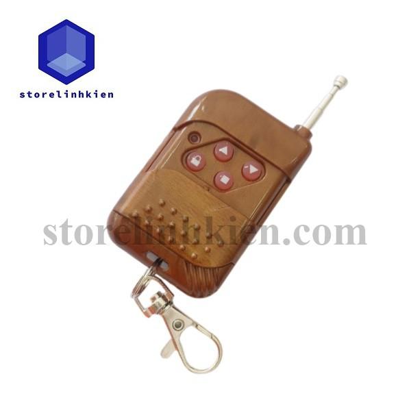 Remote cửa cuốn vân gỗ RF (học lệnh) 315 & 433Mhz