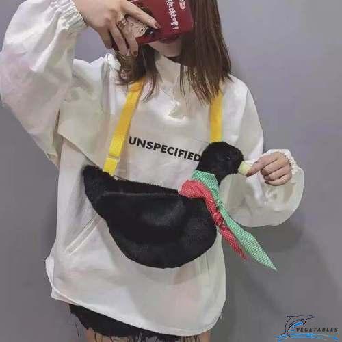 Túi đeo chéo hình chú vịt dễ thương dành cho nữ