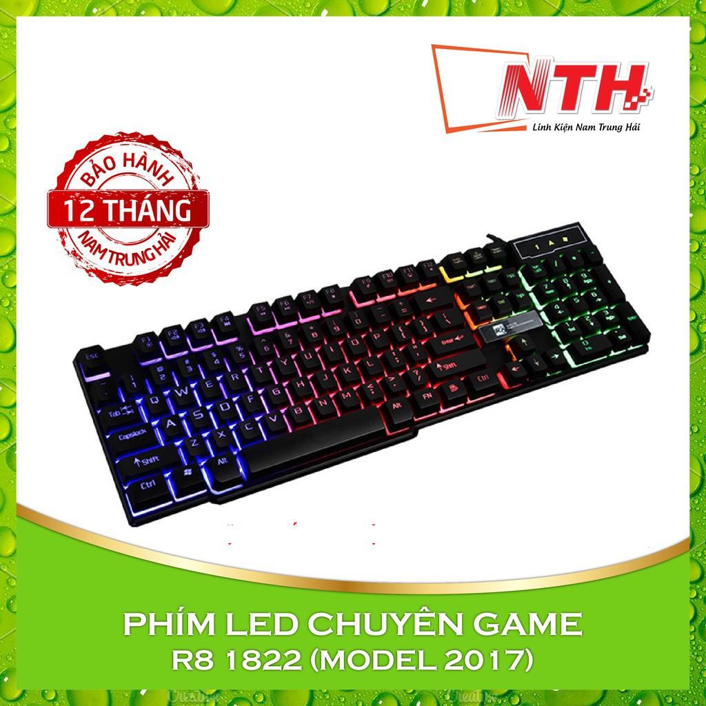 Combo phím chuột led 7 màu chuyên game R8 1822 + Chuột R8 1602 Giá chỉ 132.000₫