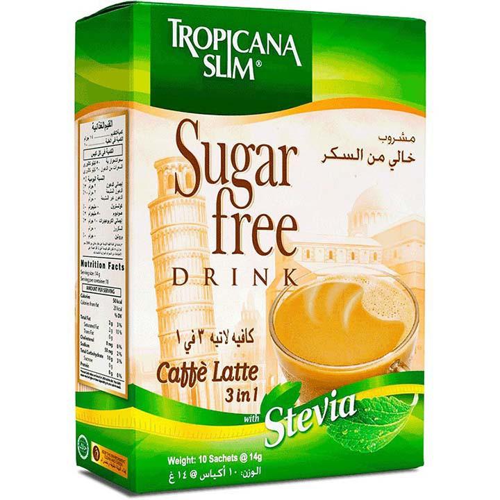 Cafe Ăn Kiêng Latte 3 in 1 Tropicana Slim, Dành Cho Người Ăn Kiêng Giữ Dáng, Bệnh Tiểu Đường