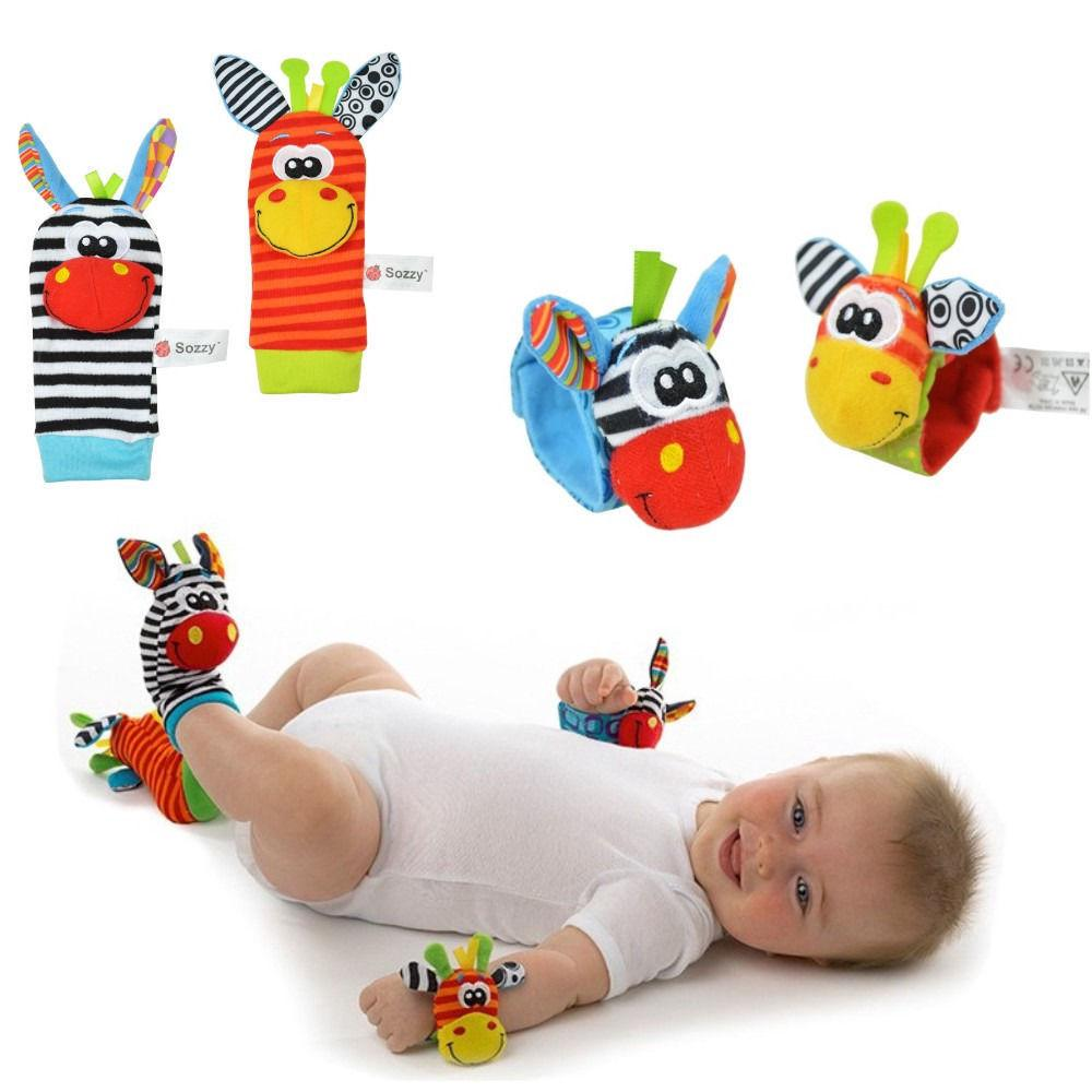 AAA-2018 New Lovely Infant Baby Kids Multicolor Animal Hand Wrist Bells Foot