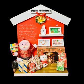 Mô Hình Gỗ DIY Noel Để Bàn - Santa Claus