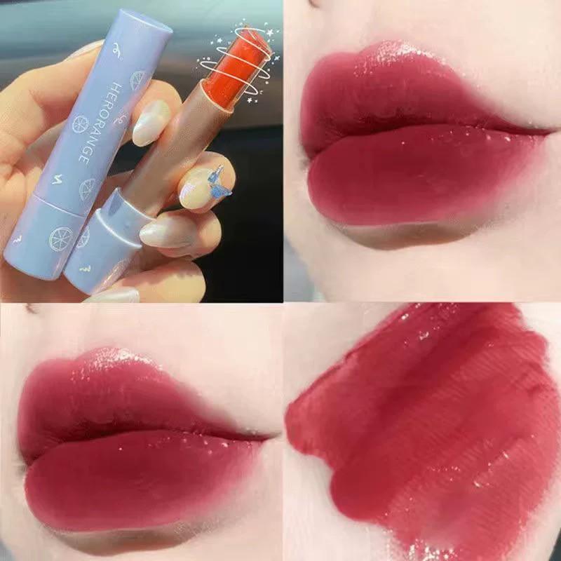 Son thỏi bóng Jelly thạch HERORANGE mọng môi Fantasy Velvet Charm Lipstick