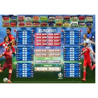 Lịch bóng đá EURO 2021 bản đẹp siêu nét