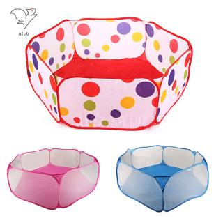 HYP New Children Folding Ocean Balls Pit Holder Portable Outdoor Indoor Fun Play Toy Tent House Hut Ball Pool @VN