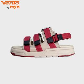 Giày Sandal Vento Nữ - MS NV1001 - 3 quai màu đỏ phối be