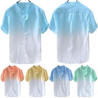 Áo cotton ngắn tay cổ tim thời trang mùa hè dành cho nam