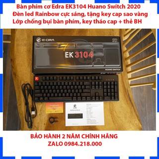 Bàn Phím Cơ E-DRA EK3104 Huano Switch – Led Rainbow – Dây Typ C – Phiên Bản Mới Nhất 2020 – Bảo Hành 2 Năm Chính Hãng