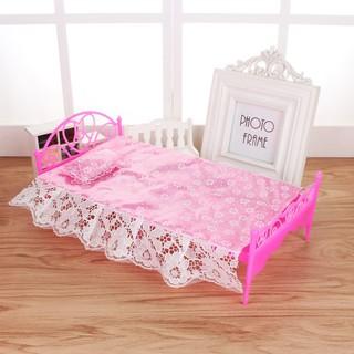 Giường ngủ công chúa dành cho búp bê phụ kiện búp bê đồ chơi búp bê thumbnail