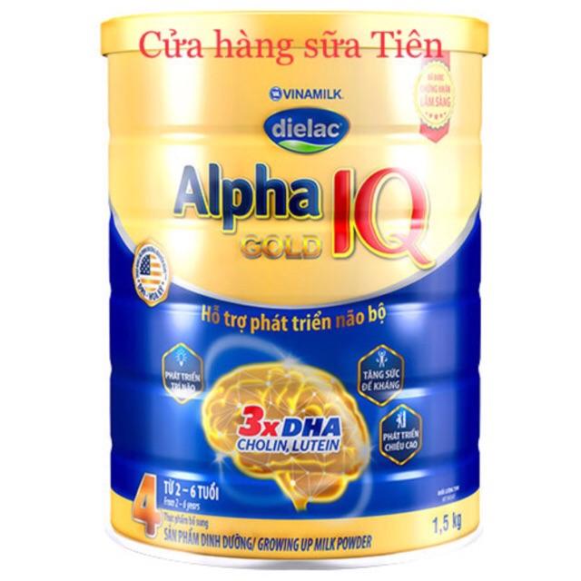 Sữa bột Vinamilk Dielac Alpha Gold Step 4 – 1,5kg (Hộp thiếc)