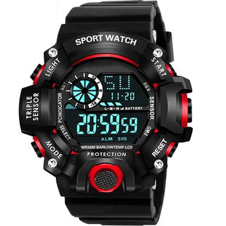 Đồng hồ thể thao điện tử nam nữ SBAO sports đồng hồ sinh viên đèn led ban đêm, đầy đủ chức năng cơ bản dây nhựa silicon thumbnail