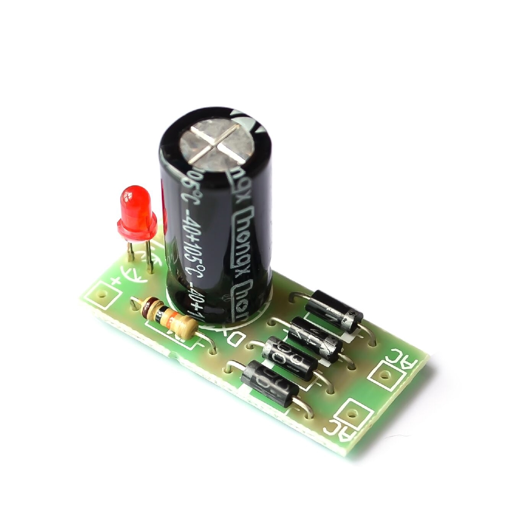 AC to DC power conversion module 1N4007 full bridge rectifier filter 12V 1A AC DC converter