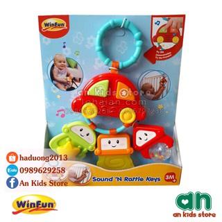 Xúc xắc gặm nướu treo cũi hình ô tô có đèn nhạc Winfun 0628